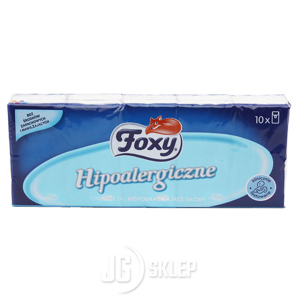 Chusteczki hipoalergiczne Foxy 10 szt.
