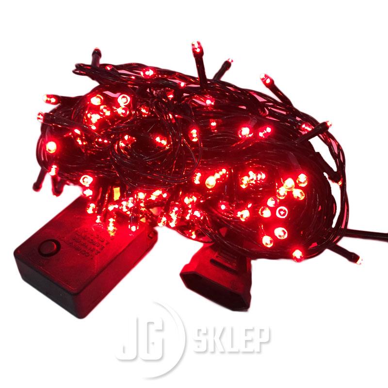 Lampki choinkowe LED 200 lampek Czerwone