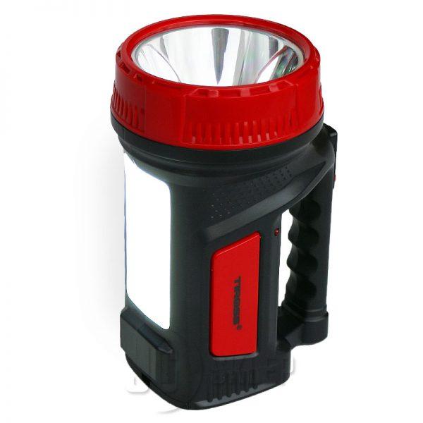 Latarka Tiross LED akumulatorowa 2 tryby Czerwona