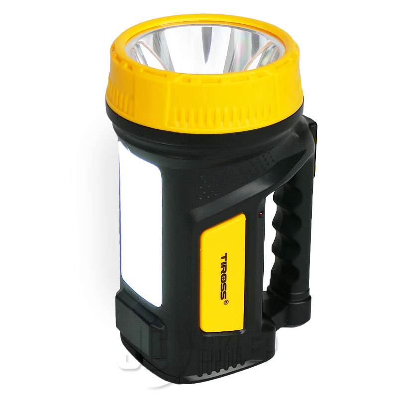 Latarka Tiross LED akumulatorowa 2 tryby Żółta