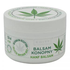 Balsam konopny z naturalnym olejem na mięśnie i ból stawów Editt 250ml