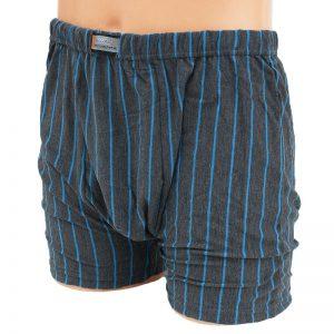 Bokserki męskie bawełniane Bixtra Super Size Grafitowe Niebieskie