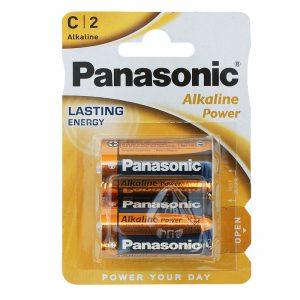 Baterie Panasonic Alkaliczne 2 sztuki 1,5V R14