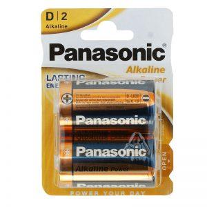 Baterie Panasonic Alkaliczne 2 sztuki 1,5V R20