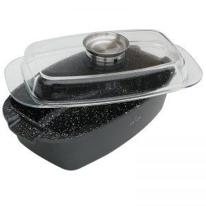Brytfanna z pokrywką Zilner ceramiczno marmurowa indukcja 5,5L