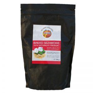 Białko sezamowe w proszku 100% naturalne Skarby Polesia 500g