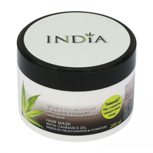 Maska do włosów z olejem z konopi India 200ml