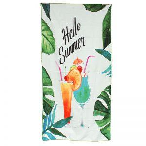 Ręcznik plażowy z mikrofibry 70x140cm hello summer