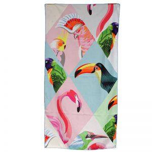 Ręcznik plażowy z mikrofibry 70x140cm ptaki