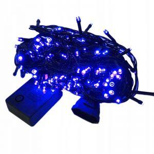 Lampki choinkowe 200 LED wew/zewnętrzne niebieskie