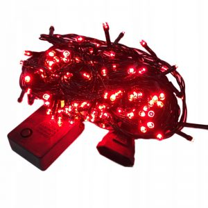 Lampki choinkowe 200 LED wew/zewnętrzne czerwone