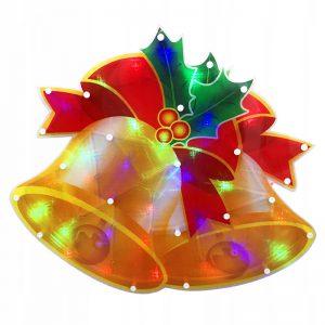 Ozdoba świecąca świąteczna okno LED Dzwonki