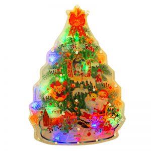 Ozdoba świecąca świąteczna okno LED Choinka