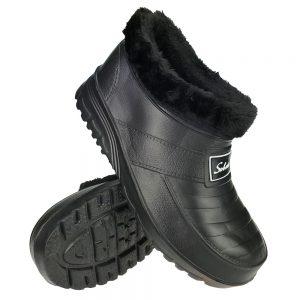 Buty damskie kalosze piankowe ogrodowe ocieplane Belt Czarne