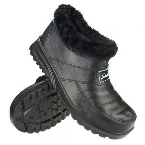 Buty męskie kalosze piankowe ogrodowe ocieplane Belt Czarne