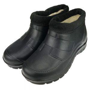 Buty męskie kalosze piankowe ogrodowe ocieplane Krym Czarne