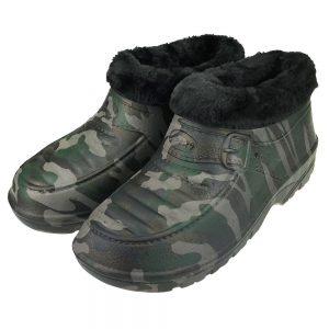 Buty męskie kalosze piankowe ogrodowe ocieplane Sport Moro Czarne